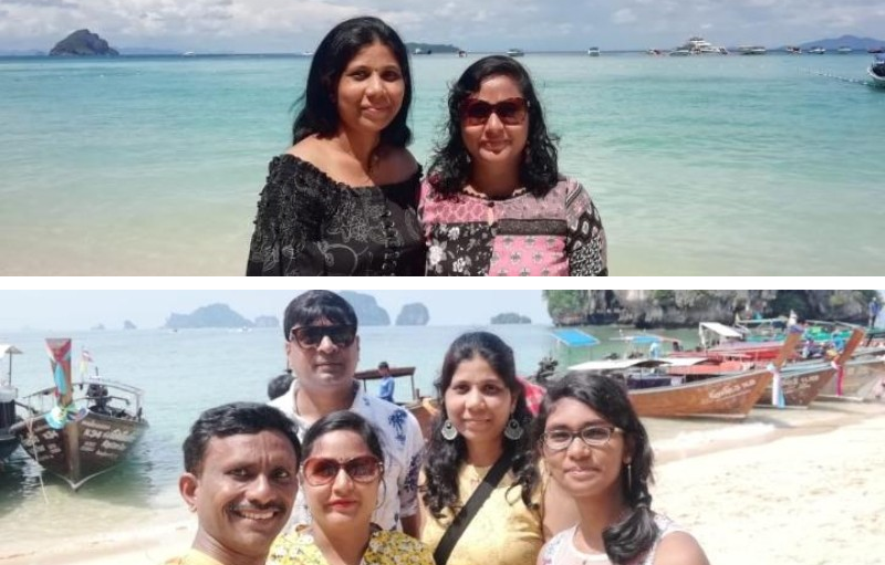 Group of people standing in beach